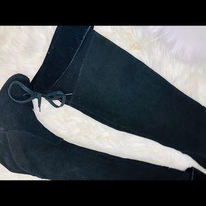 Restricted Shoes - RESTRICTED Milestone Overknee suede zip Wedge boot